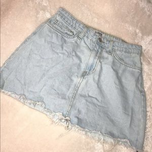 size small worn once denim skirt